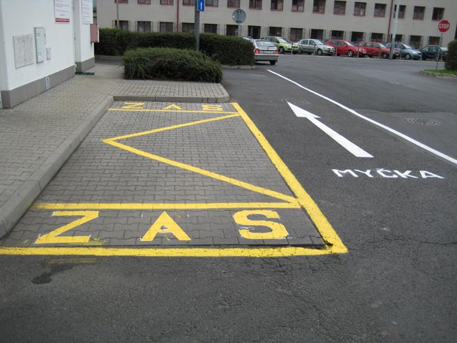Obnova vodorovného dopravního značení (DPMD Děčín)