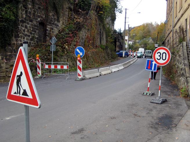 Dočasné dopravní značení (Děčín - Přípeř)